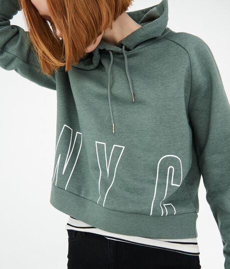 Block Letter NYC Pullover Hoodie