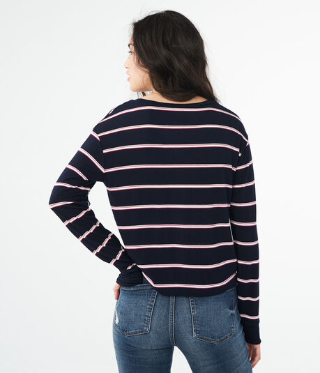 Long Sleeve Striped Tomboy Tee