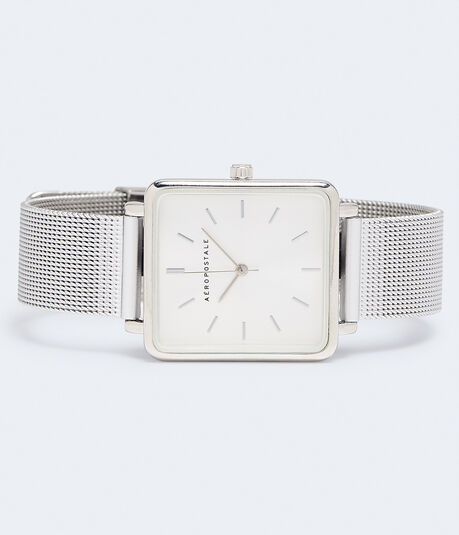 Square Mesh Analog Watch***