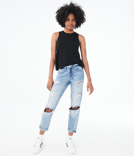 Low-Rise Boyfriend Ankle Jean