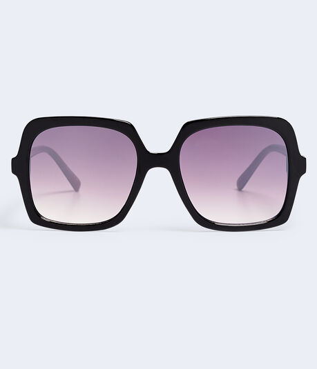 Gradient Tinted Square Sunglasses***