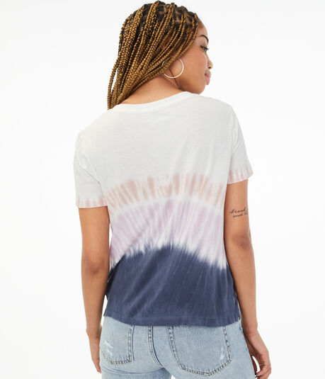 Tie-Dye Cotton V-Neck Tee