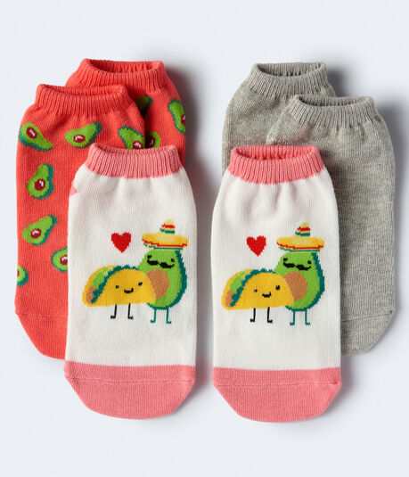 3-Pack Food Friends, Solid & Avocado Socks