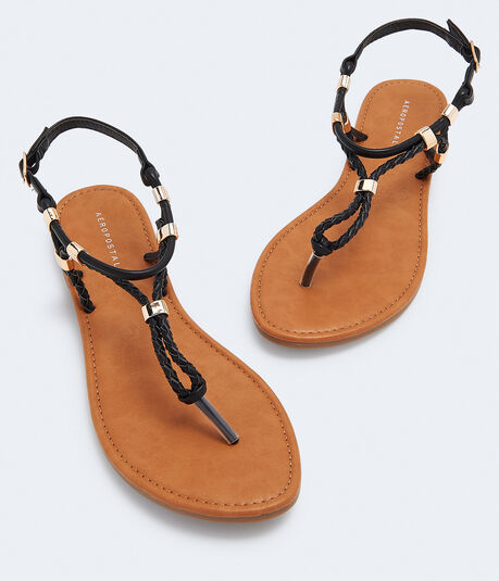 Braided Buckle Sandal***