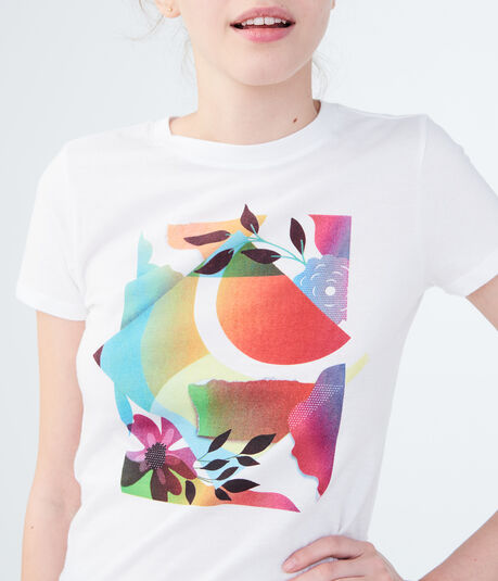 Free State Floral Collage Graphic Tee