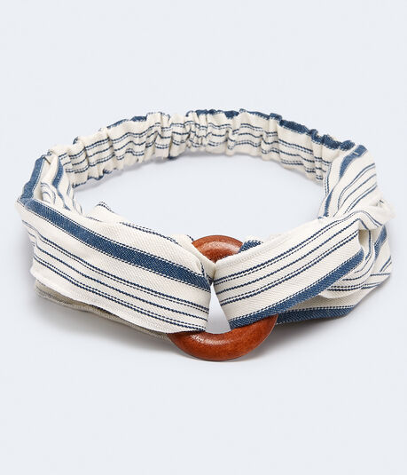 Wooden Ring Striped Headband