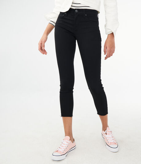High-Waisted Color Wash Crop Jegging