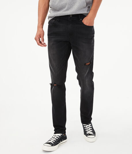 Flex Effects Super Skinny Black Wash Jean***