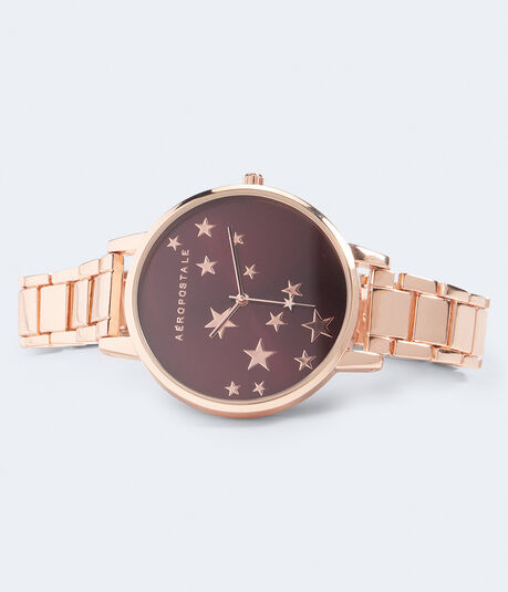 Starry Metal Analog Watch