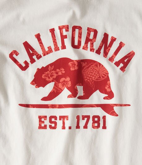 Floral California Bear Graphic Tee