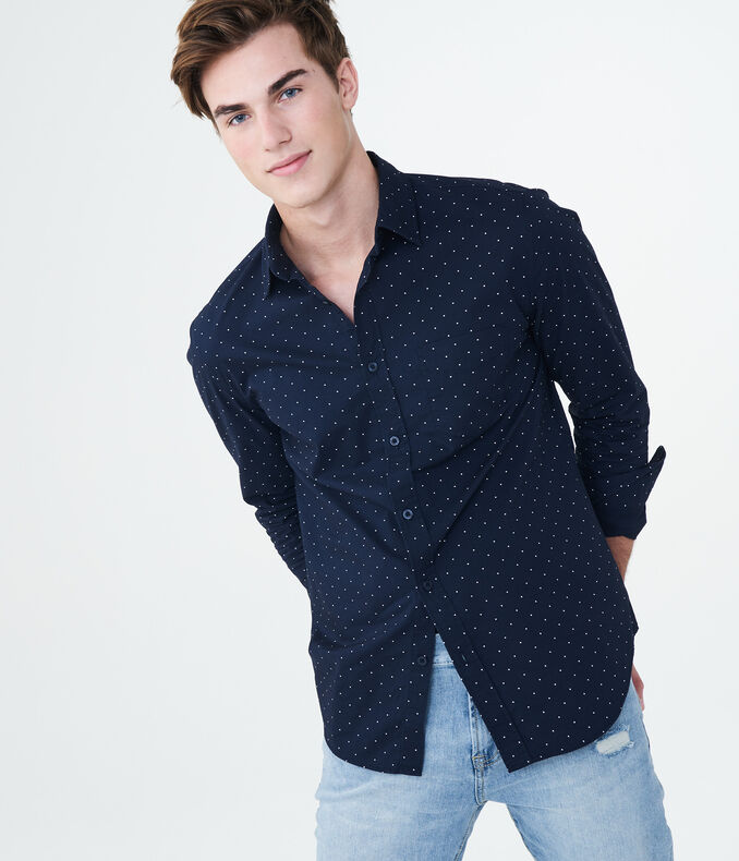 Long Sleeve Tiny Dot Woven Shirt