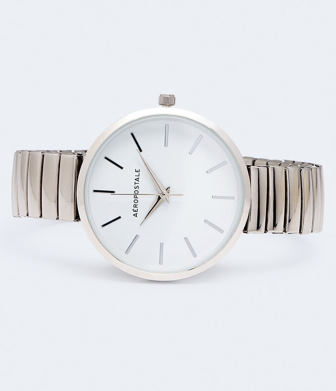Round Stretch Metal Analog Watch