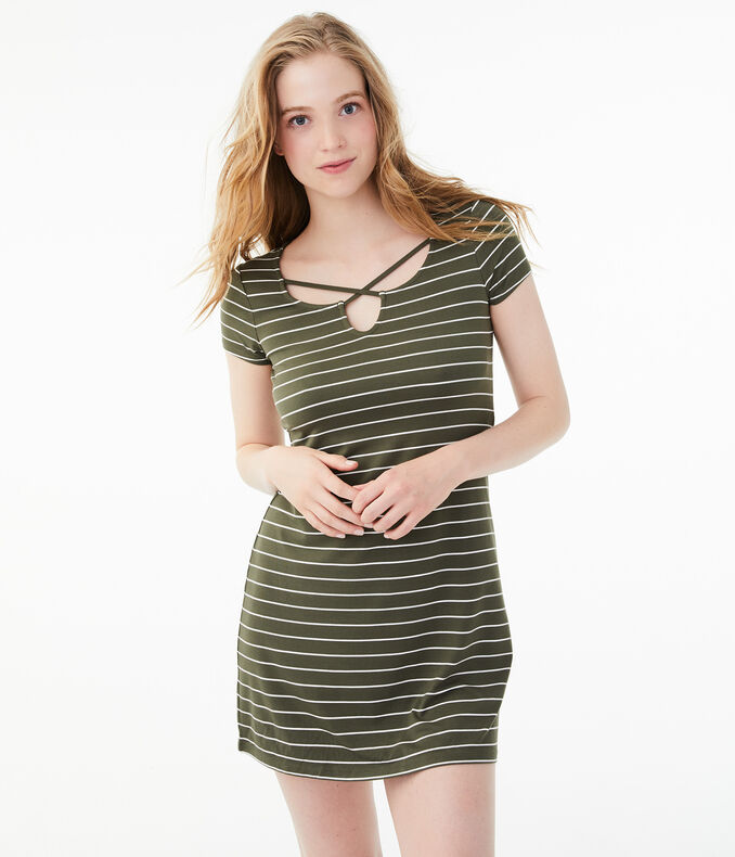 Seriously Soft Striped T Shirt Dress by Aeropostale