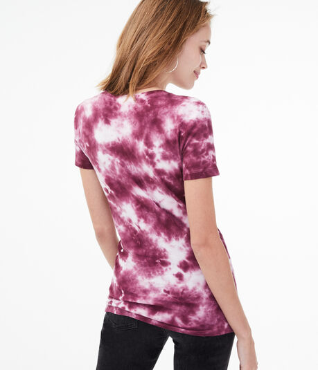 Floral Tie-Dye Graphic Tee