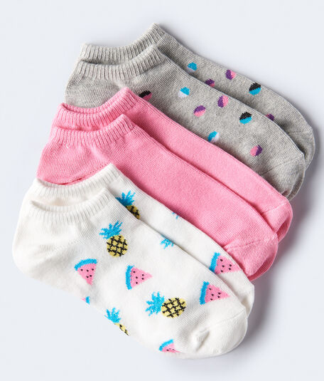 Pineapple & Watermelon Ankle Sock 3-Pack