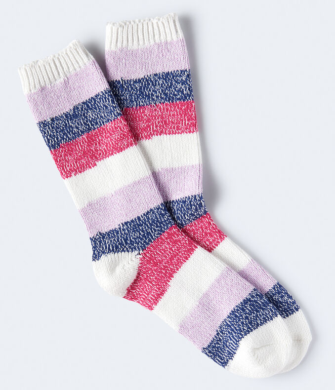 Seriously Soft Colorblock Stripe Boot Socks