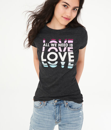 1028dcee6a157b All We Need Is Love Graphic Tee ...