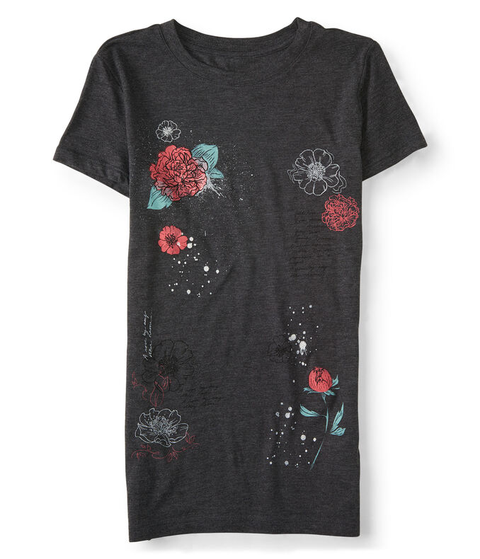 Floral Sketch Graphic Tee
