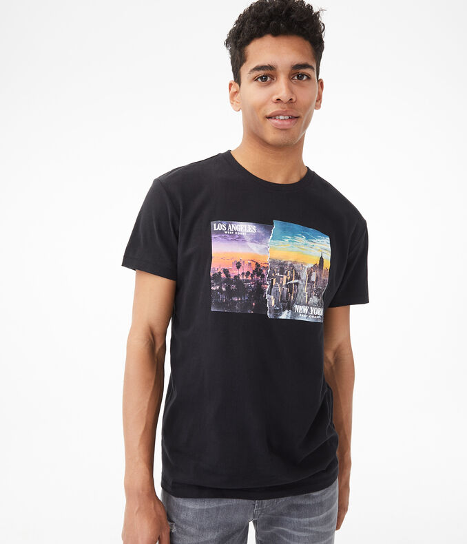 Los Angeles/New York Graphic Tee