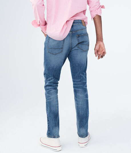 Slim Straight Medium Wash Stretch Jean