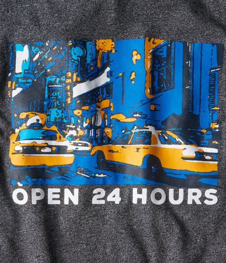 NY Open 24 Hours Graphic Tee