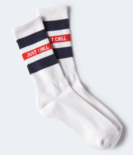 Just Chill Crew Socks