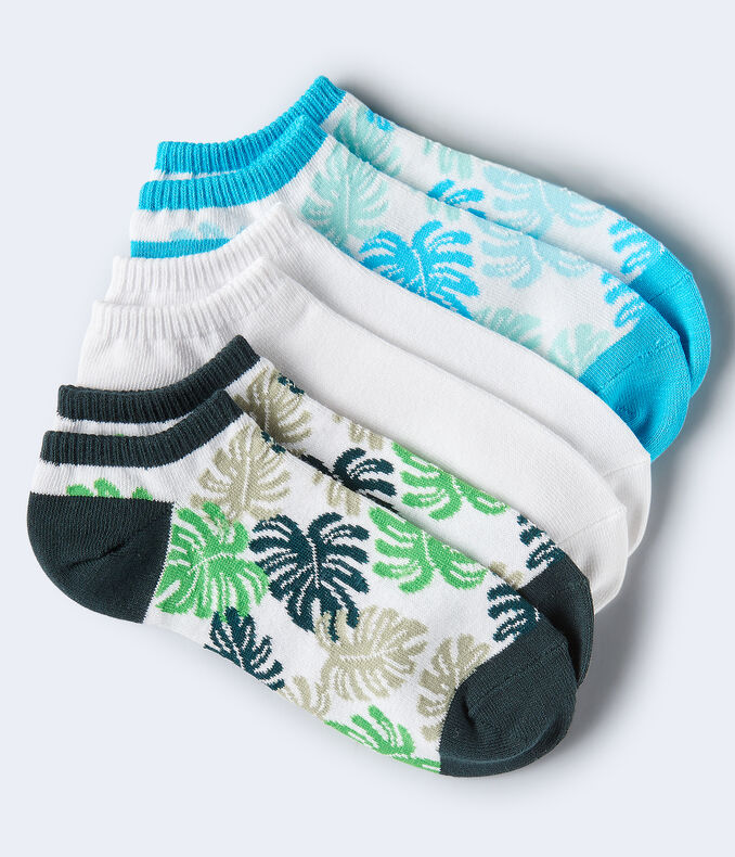 Monstera Leaves Ankle Sock 3-Pack