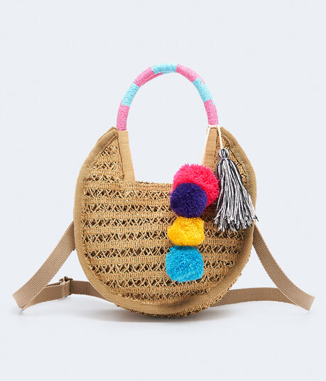 Straw Crossbody Bag