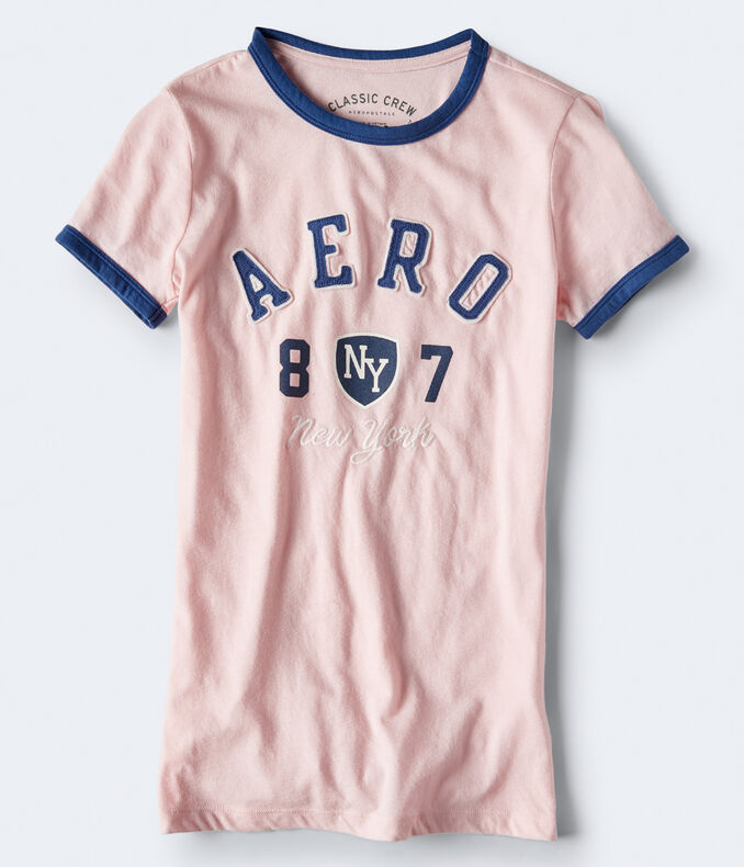 Aero NY Shield Ringer Graphic Tee