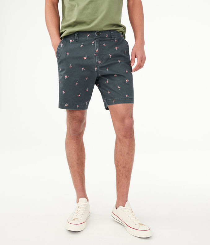 "Flamingo Stretch 7.5"" Beach Shorts"