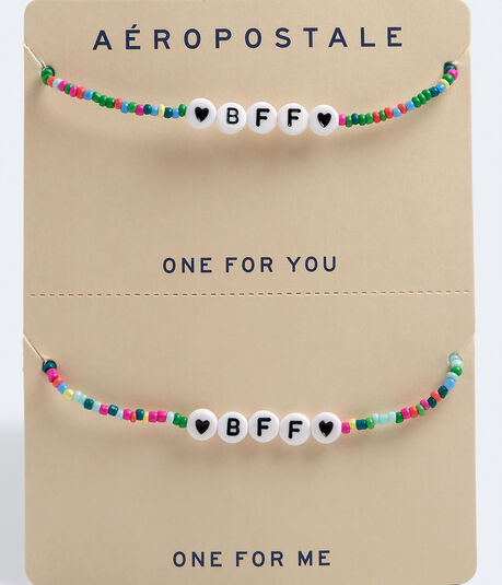 Best Friends Beaded BFF Necklace 2-Pack