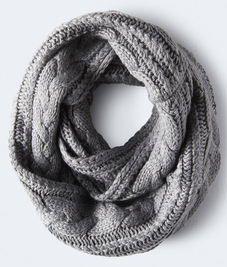 Cable-Knit Infinity Scarf
