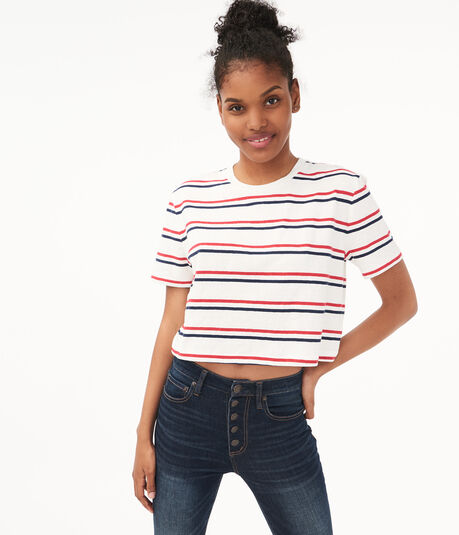 '80s Striped Boxy Tee