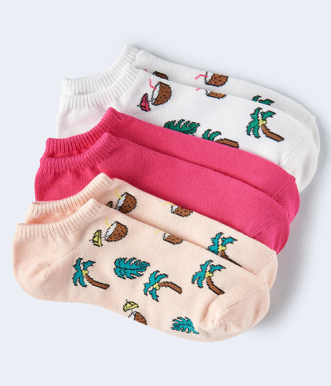 Coconut Palms Ankle Sock 3-Pack