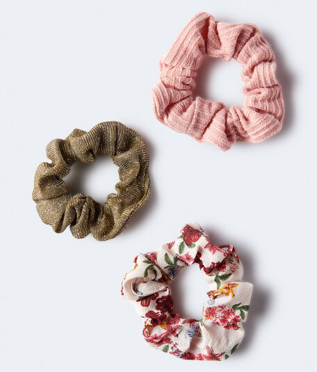 Glitter Scrunchie 3-Pack***