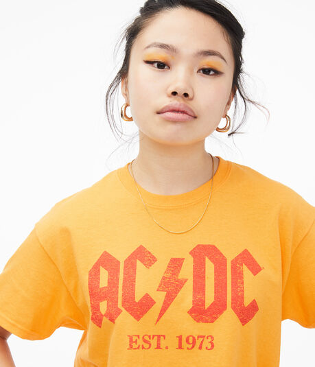 AC/DC Cropped Graphic Tee