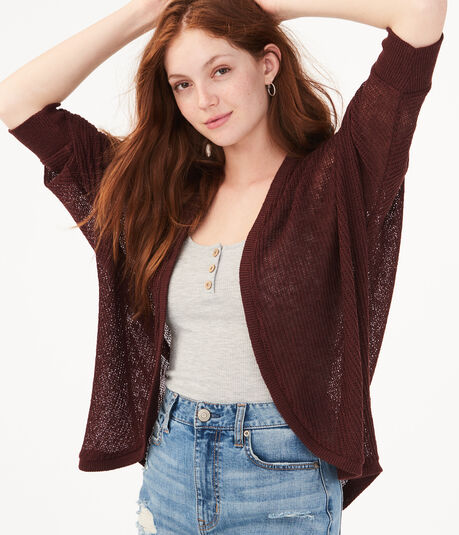 Sweater-Knit Dolman Cardigan