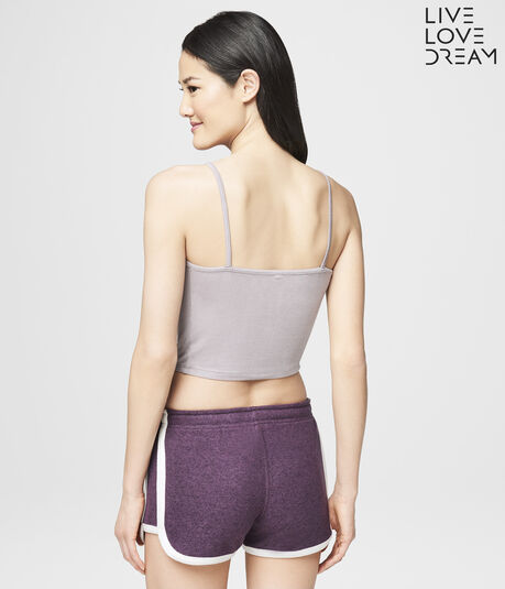 LLD Knot-Front Crop Sleep Cami