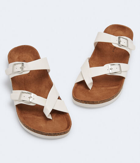 Crisscross Cork Slide Sandal