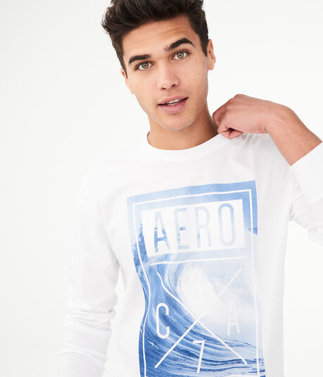 Long Sleeve Aero Wave Graphic Tee***