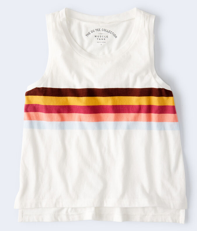 Chest Stripe High-Low Muscle Tank