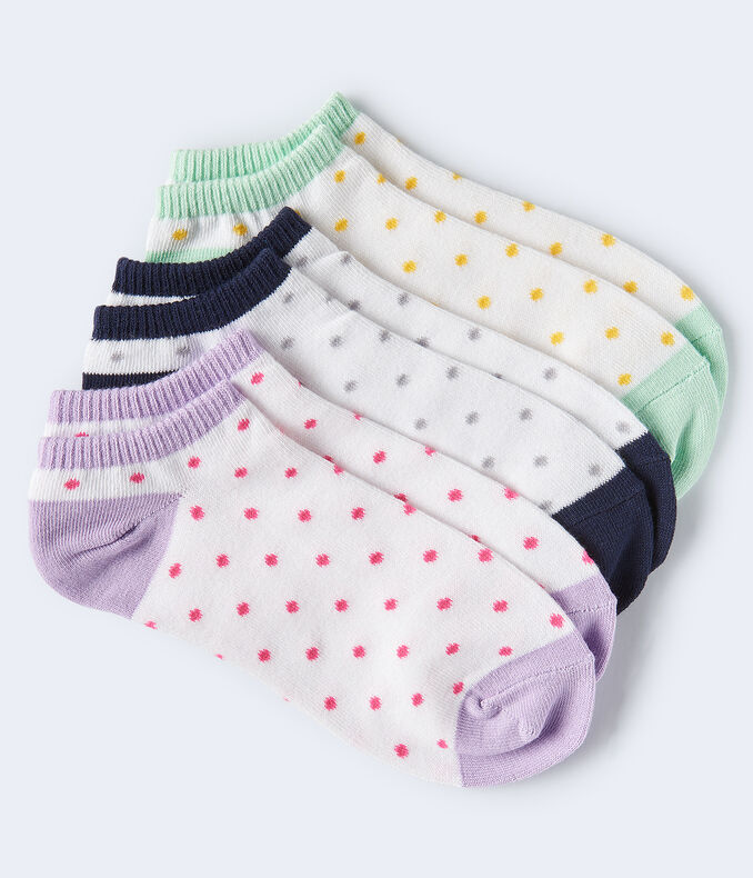 Colorblocked Dots Ankle Sock 3-Pack