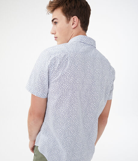 Geometric Dot Button-Down Shirt