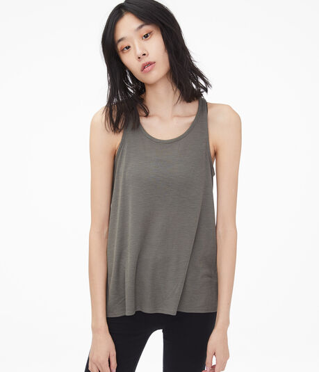 Twist Back Cutout Tank