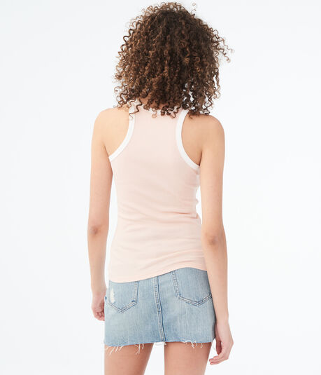 Solid High-Neck Ringer Tank