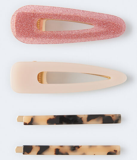 Mixed Slide Hair Clip 4-Pack