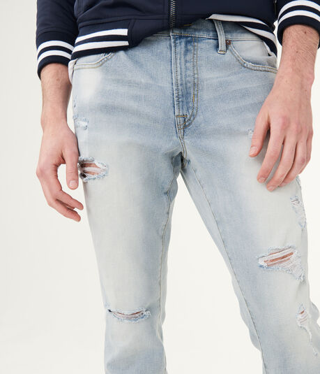 Flex Effects Super Skinny Destroyed Bleach Wash Jean