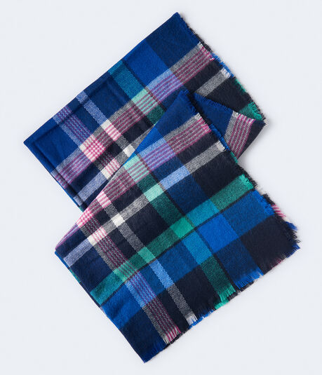 Plaid Woven Blanket Scarf