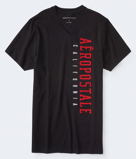 Aeropostale California V-Neck Graphic Tee