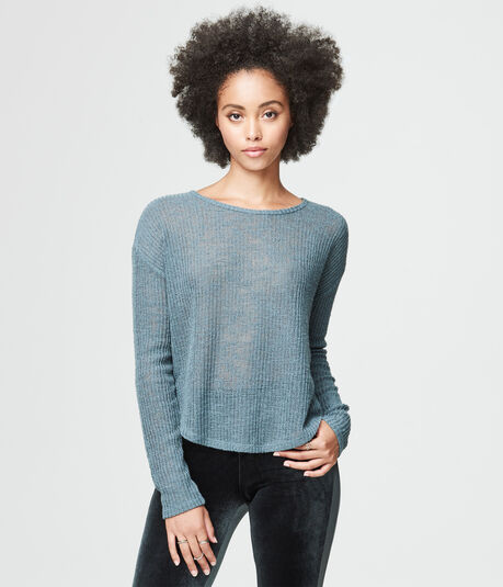 Solid Cross-Back Sweater